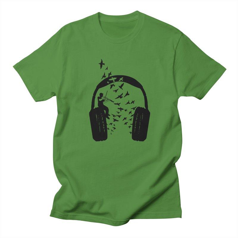 Headphone Viola Damore Men's Regular T-Shirt by barmalisiRTB