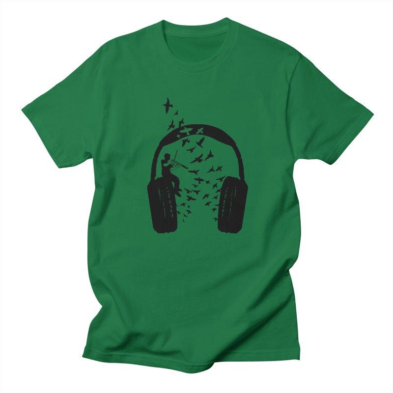 Headphone Viola Damore Men's T-Shirt by barmalisiRTB