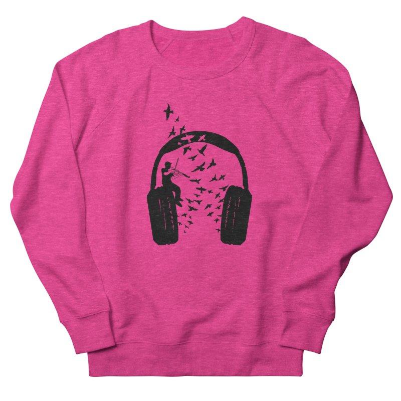 Headphone Viola Damore Women's French Terry Sweatshirt by barmalisiRTB