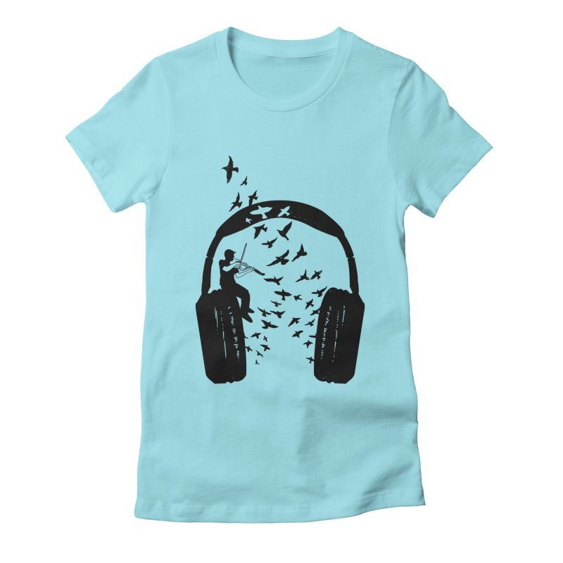 Headphone Viola Damore Women's Fitted T-Shirt by barmalisiRTB