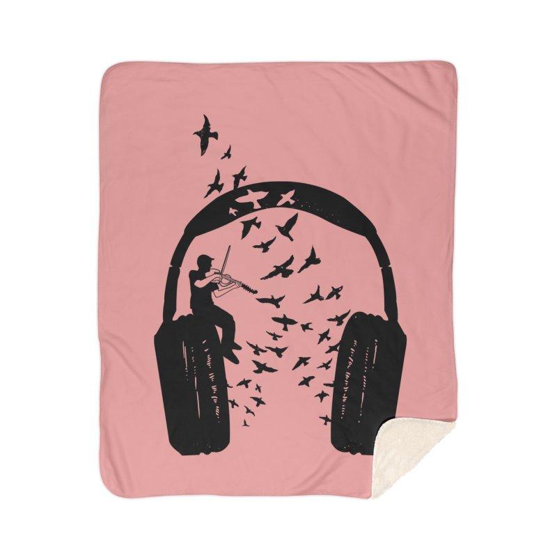 Headphone Viola Damore Home Sherpa Blanket Blanket by barmalisiRTB