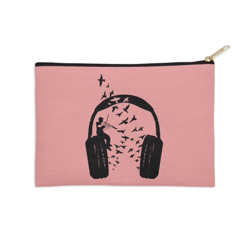 Headphone Viola Damore Accessories Zip Pouch by barmalisiRTB