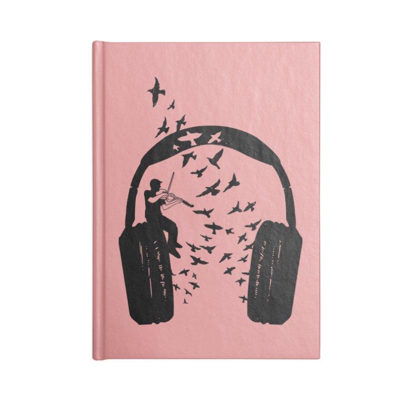 Headphone Viola Damore Accessories Blank Journal Notebook by barmalisiRTB