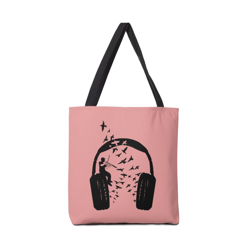 Headphone Viola Damore Accessories Tote Bag Bag by barmalisiRTB