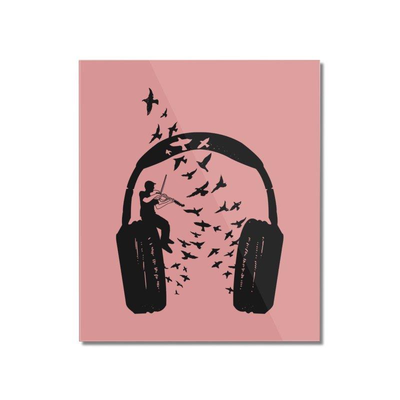 Headphone Viola Damore Home Mounted Acrylic Print by barmalisiRTB