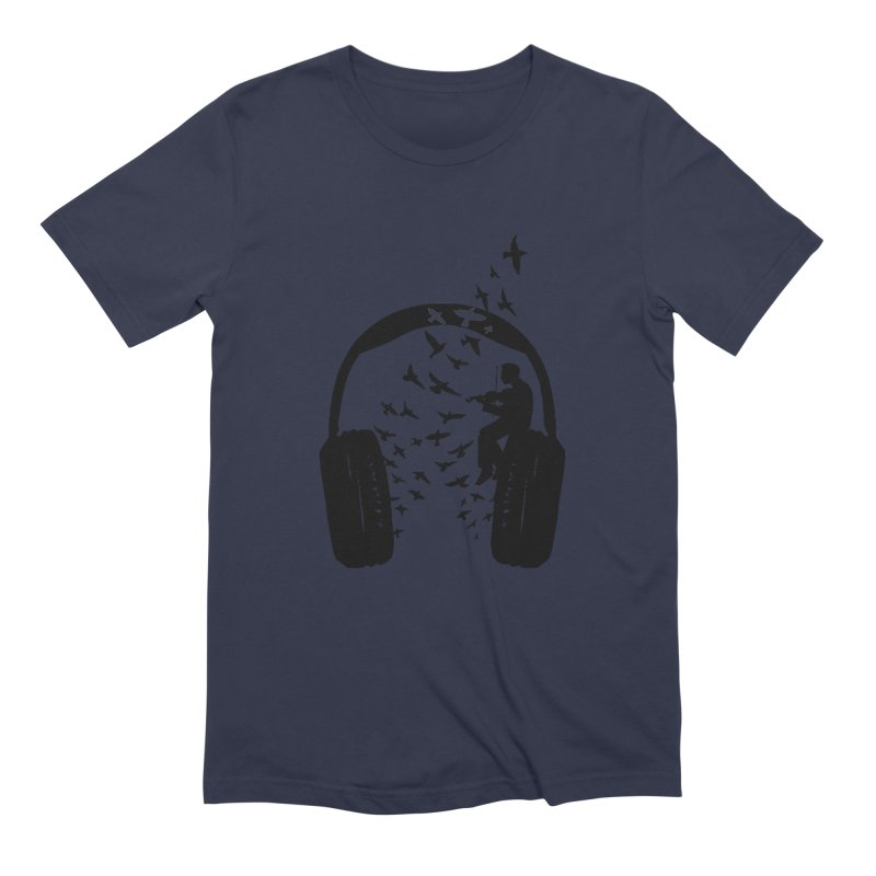 Headphone Violin Men's Extra Soft T-Shirt by barmalisiRTB