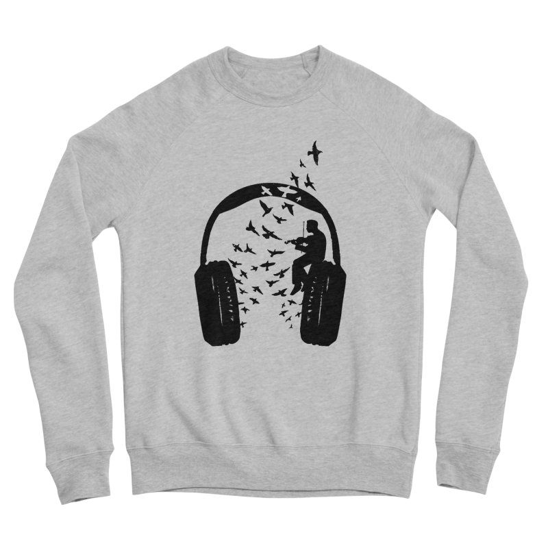 Headphone Violin Men's Sponge Fleece Sweatshirt by barmalisiRTB