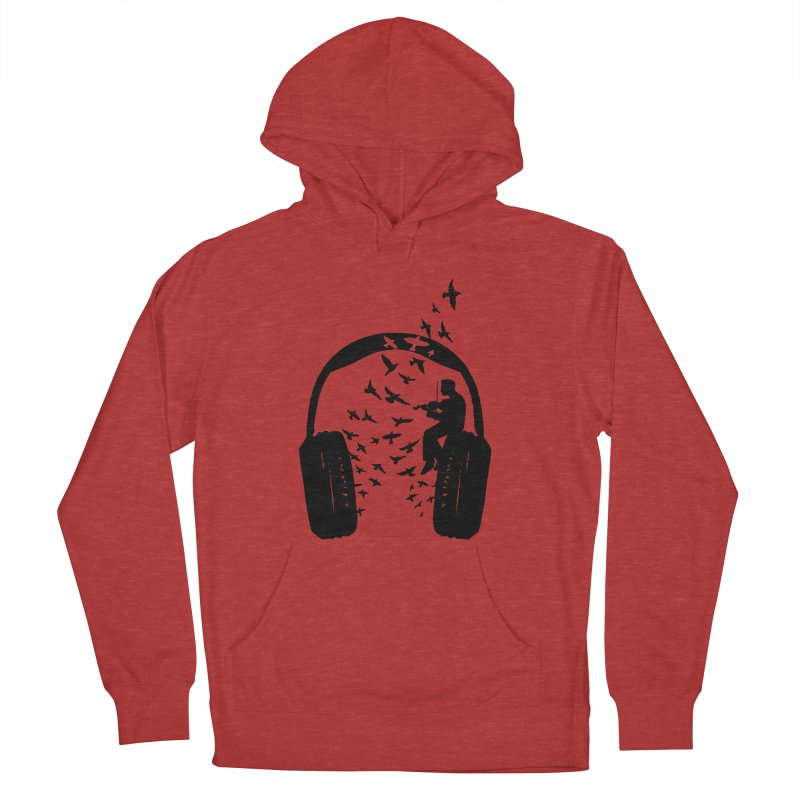 Headphone Violin Men's French Terry Pullover Hoody by barmalisiRTB