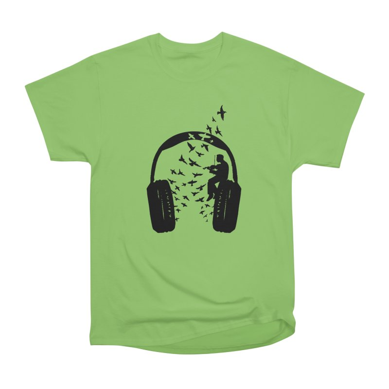 Headphone Violin Women's Heavyweight Unisex T-Shirt by barmalisiRTB
