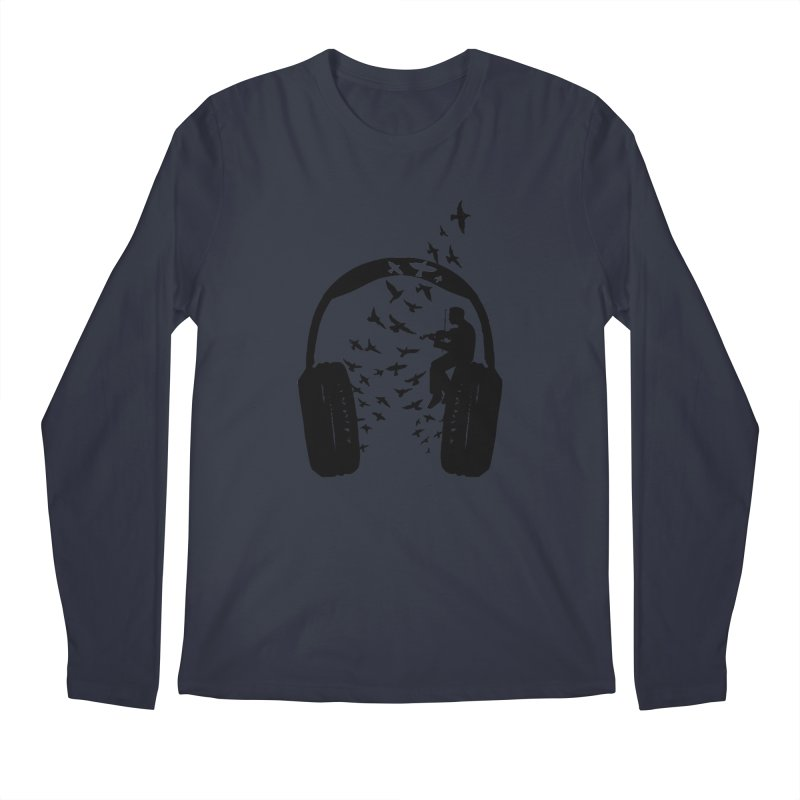 Headphone Violin Men's Regular Longsleeve T-Shirt by barmalisiRTB