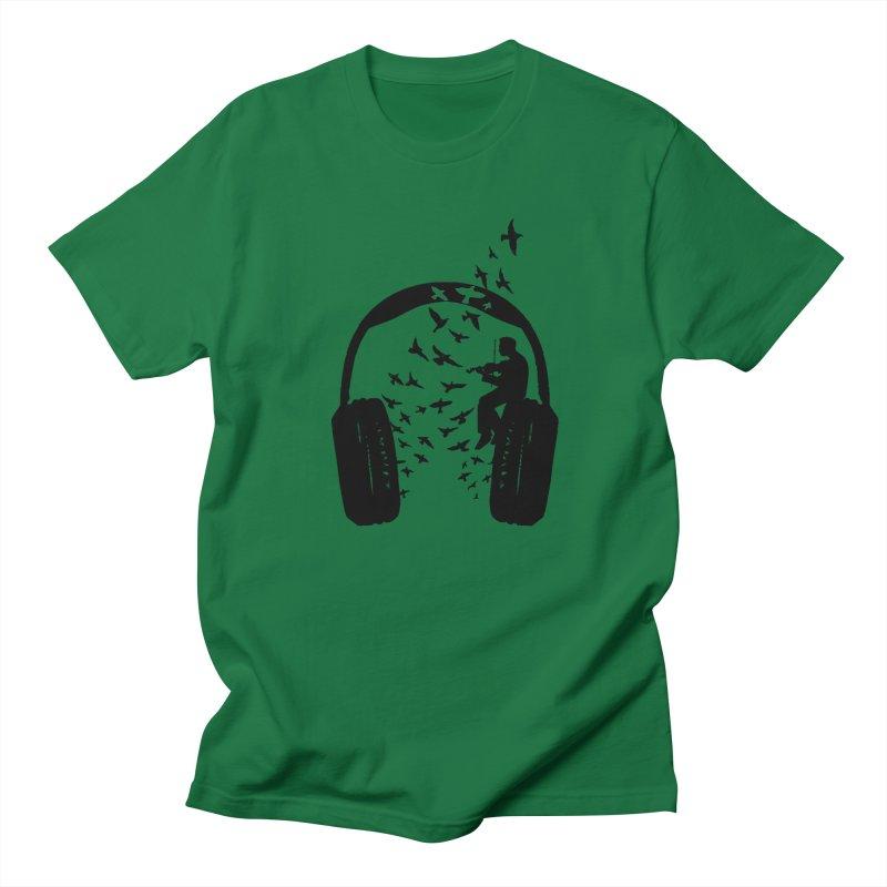 Headphone Violin Men's T-Shirt by barmalisiRTB