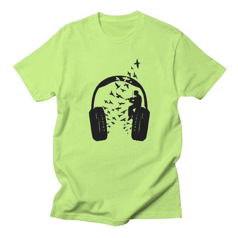 Headphone Violin Women's Regular Unisex T-Shirt by barmalisiRTB