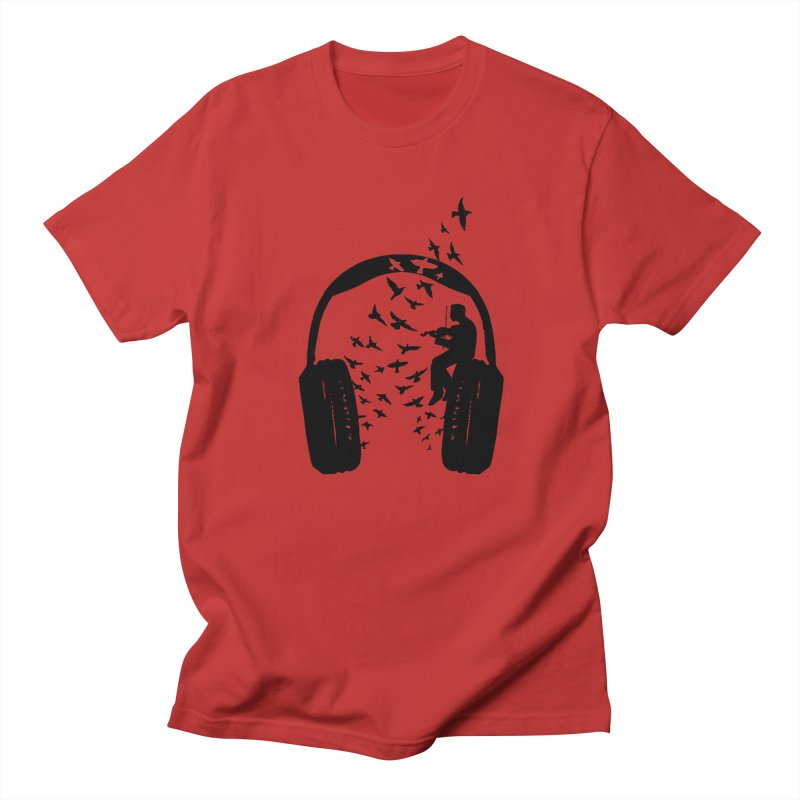 Headphone Violin Men's Regular T-Shirt by barmalisiRTB