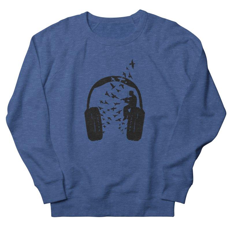 Headphone Violin Women's French Terry Sweatshirt by barmalisiRTB