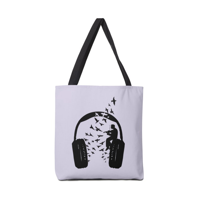 Headphone Violin Accessories Tote Bag Bag by barmalisiRTB