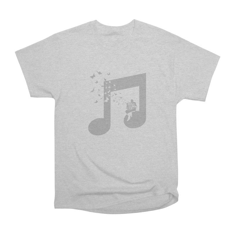 Accordion Butterfly Men's Heavyweight T-Shirt by barmalisiRTB