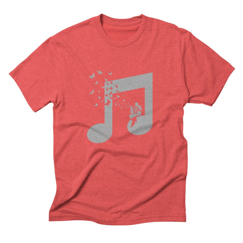 Accordion Butterfly Men's Triblend T-Shirt by barmalisiRTB