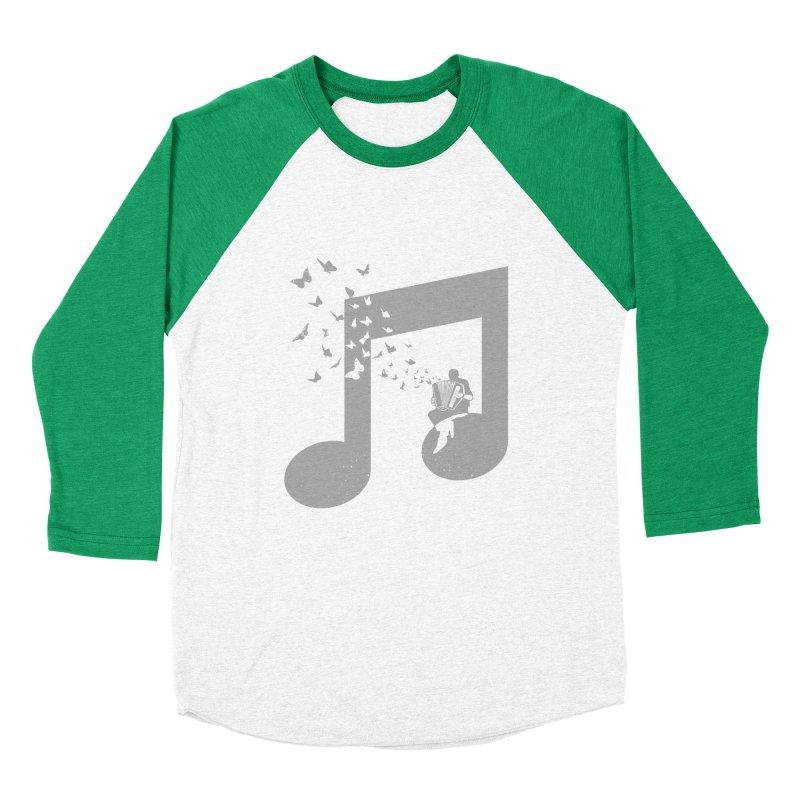 Accordion Butterfly Men's Baseball Triblend Longsleeve T-Shirt by barmalisiRTB