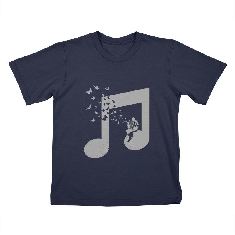 Accordion Butterfly Kids T-Shirt by barmalisiRTB