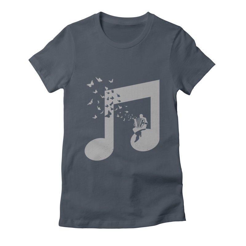 Accordion Butterfly Women's T-Shirt by barmalisiRTB