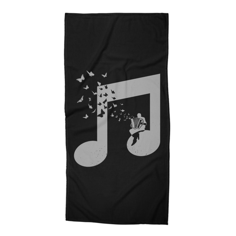 Accordion Butterfly Accessories Beach Towel by barmalisiRTB