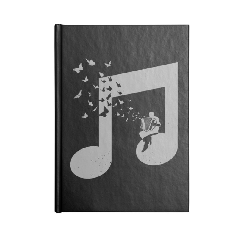 Accordion Butterfly Accessories Blank Journal Notebook by barmalisiRTB
