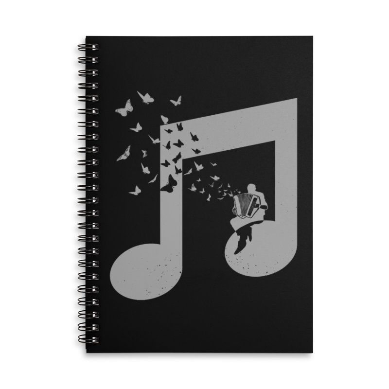 Accordion Butterfly Accessories Lined Spiral Notebook by barmalisiRTB