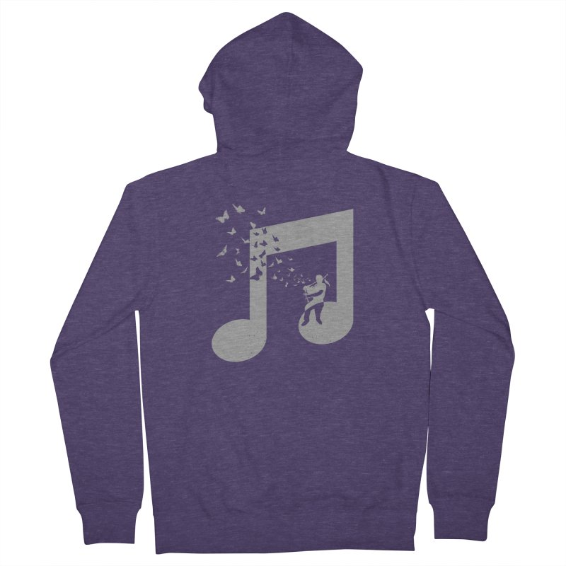 Bagpipes Butterfly Men's Zip-Up Hoody by barmalisiRTB