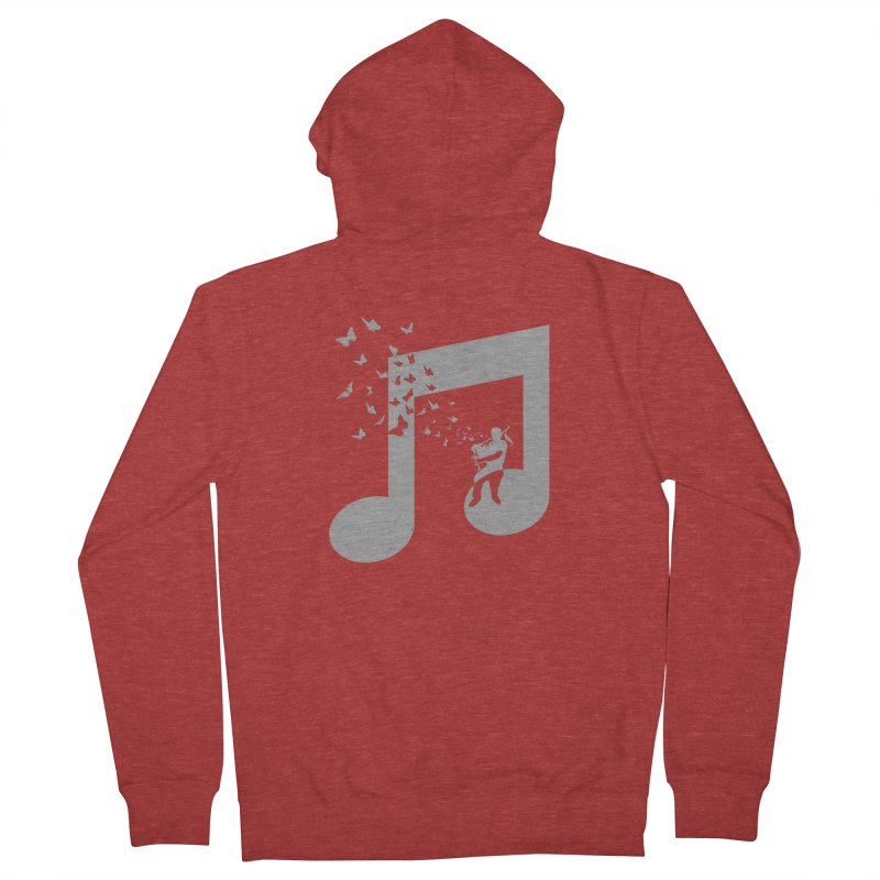 Bagpipes Butterfly Men's French Terry Zip-Up Hoody by barmalisiRTB