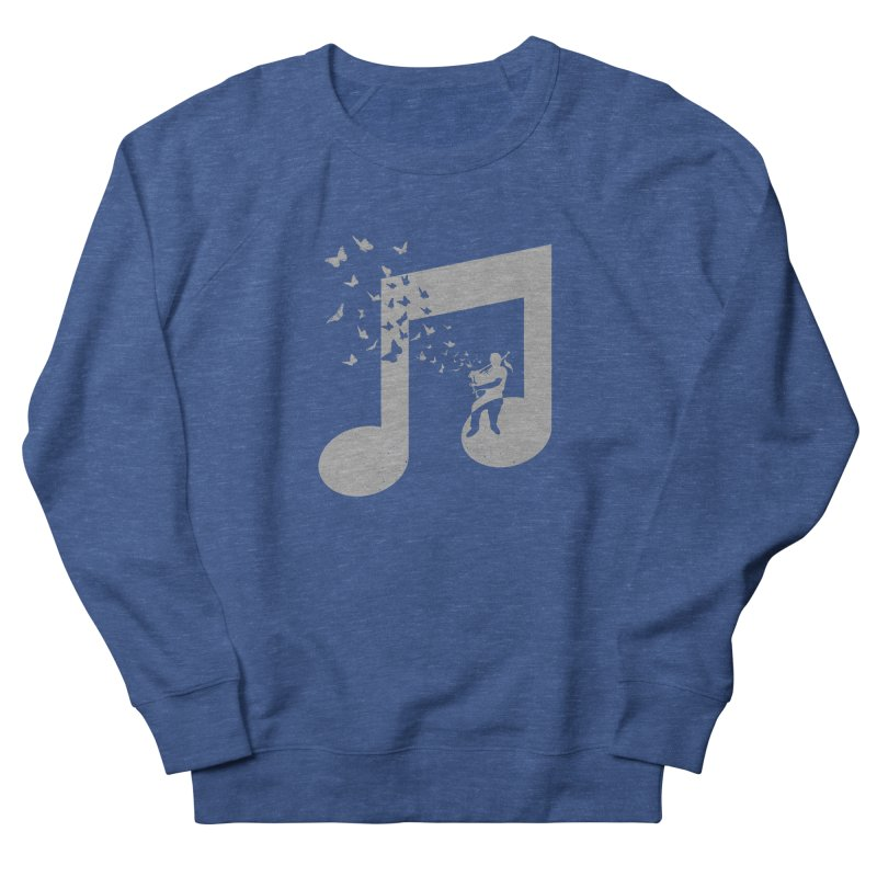 Bagpipes Butterfly Men's French Terry Sweatshirt by barmalisiRTB