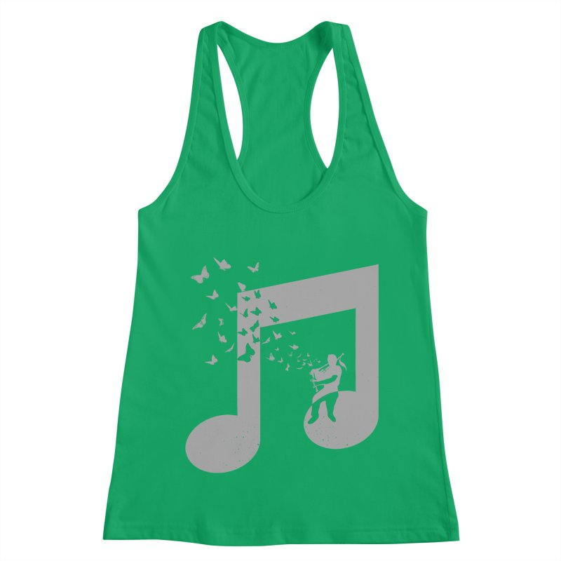 Bagpipes Butterfly Women's Racerback Tank by barmalisiRTB