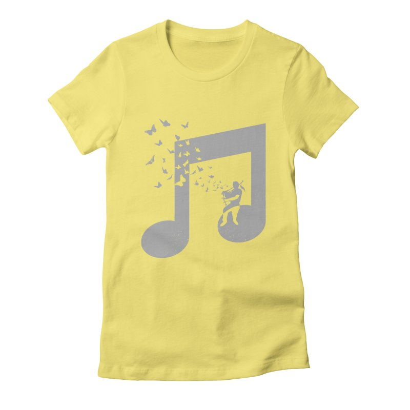 Bagpipes Butterfly Women's Fitted T-Shirt by barmalisiRTB