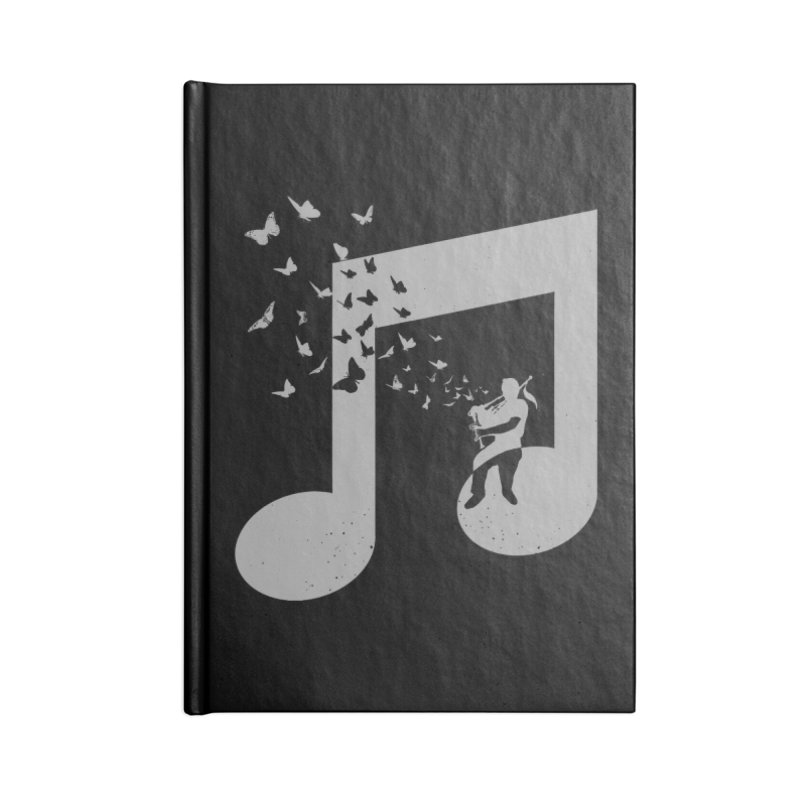 Bagpipes Butterfly Accessories Blank Journal Notebook by barmalisiRTB