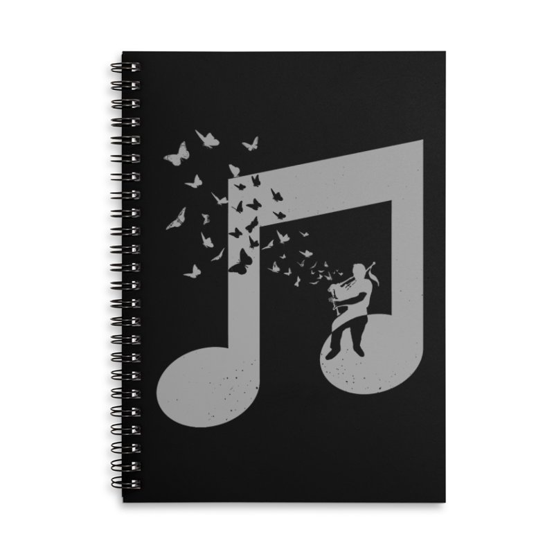 Bagpipes Butterfly Accessories Lined Spiral Notebook by barmalisiRTB