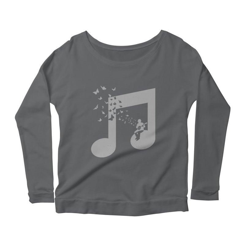 Banjo Music Women's Scoop Neck Longsleeve T-Shirt by barmalisiRTB