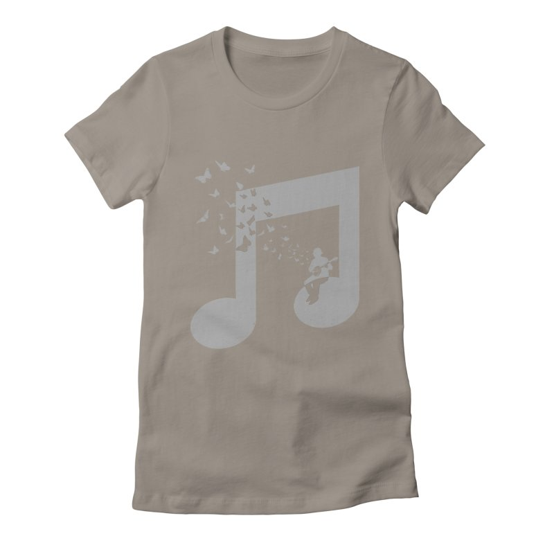 Banjo Music Women's Fitted T-Shirt by barmalisiRTB