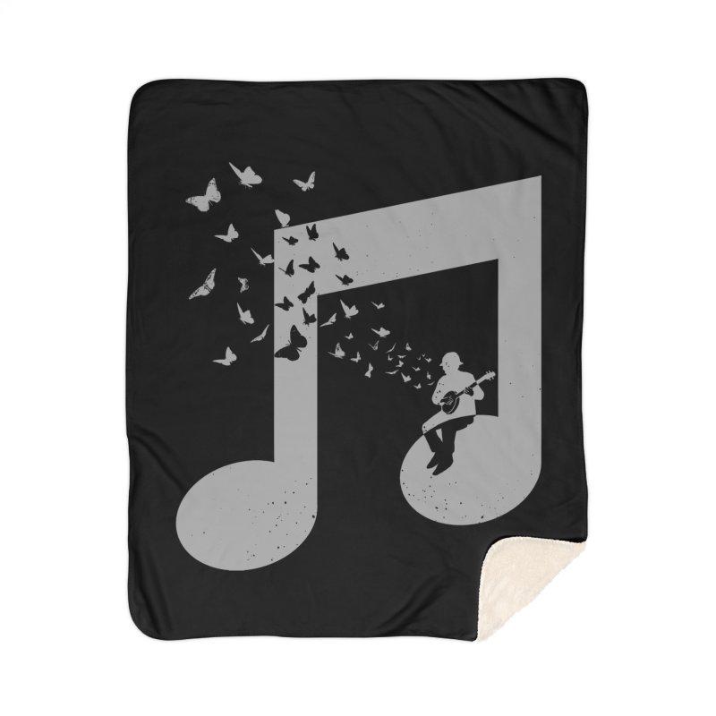 Banjo Music Home Sherpa Blanket Blanket by barmalisiRTB