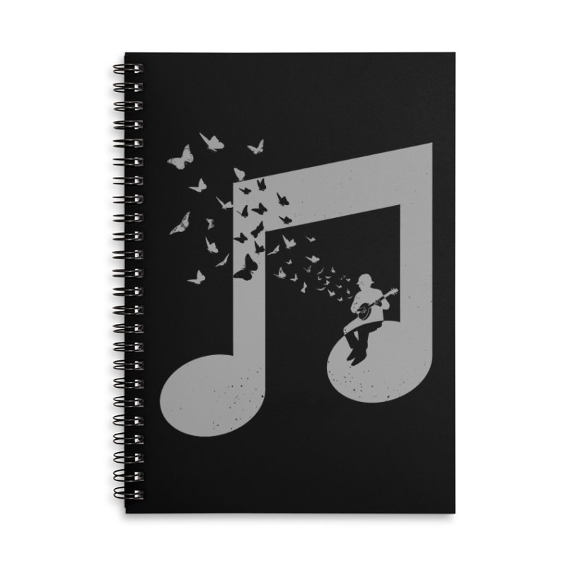 Banjo Music Accessories Lined Spiral Notebook by barmalisiRTB