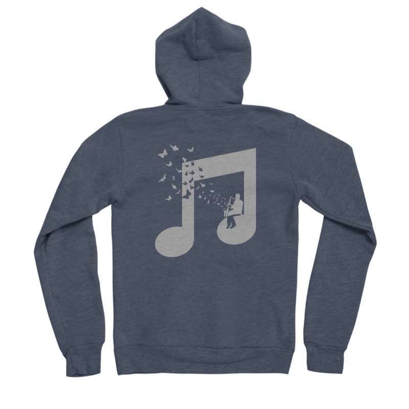 Bass Clarinet Music Women's Sponge Fleece Zip-Up Hoody by barmalisiRTB