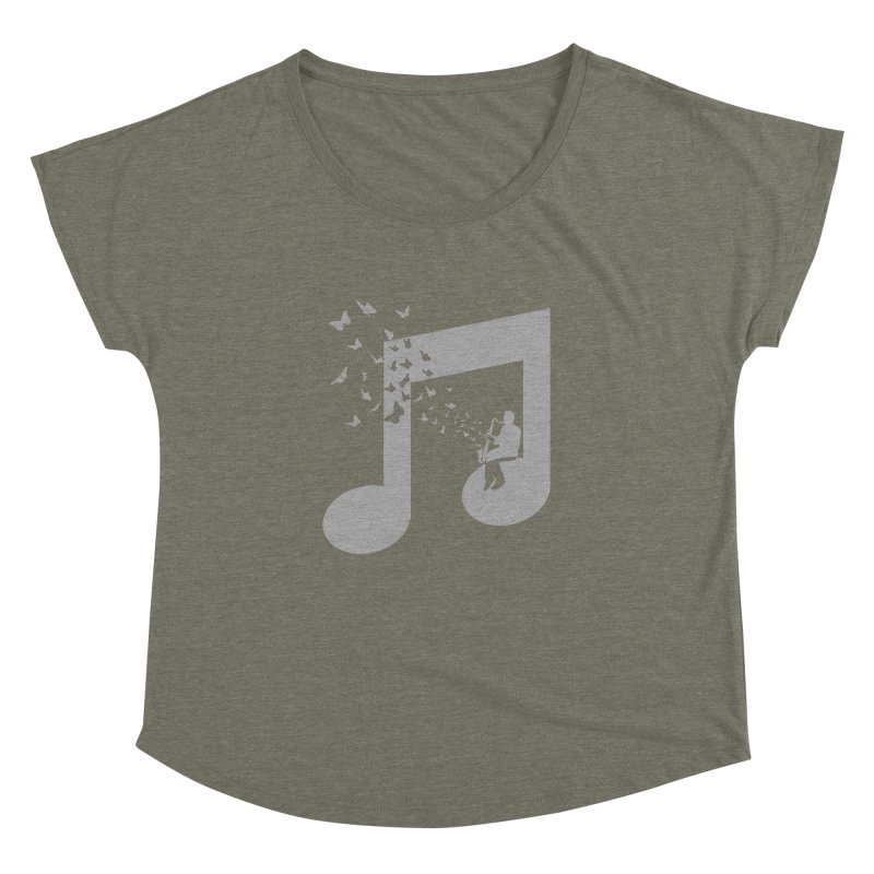 Bass Clarinet Music Women's Dolman Scoop Neck by barmalisiRTB