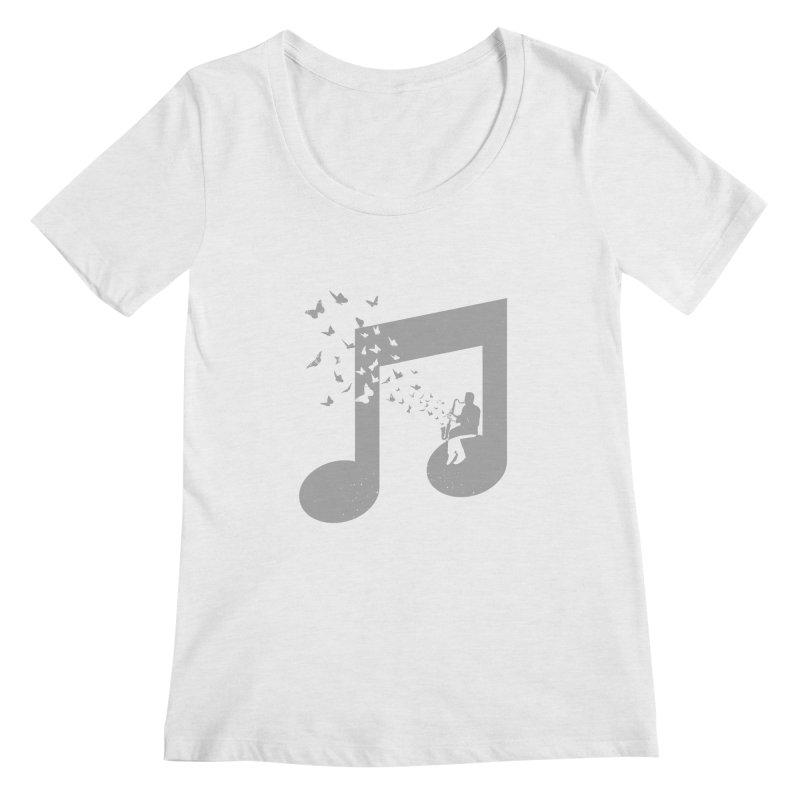 Bass Clarinet Music Women's Regular Scoop Neck by barmalisiRTB