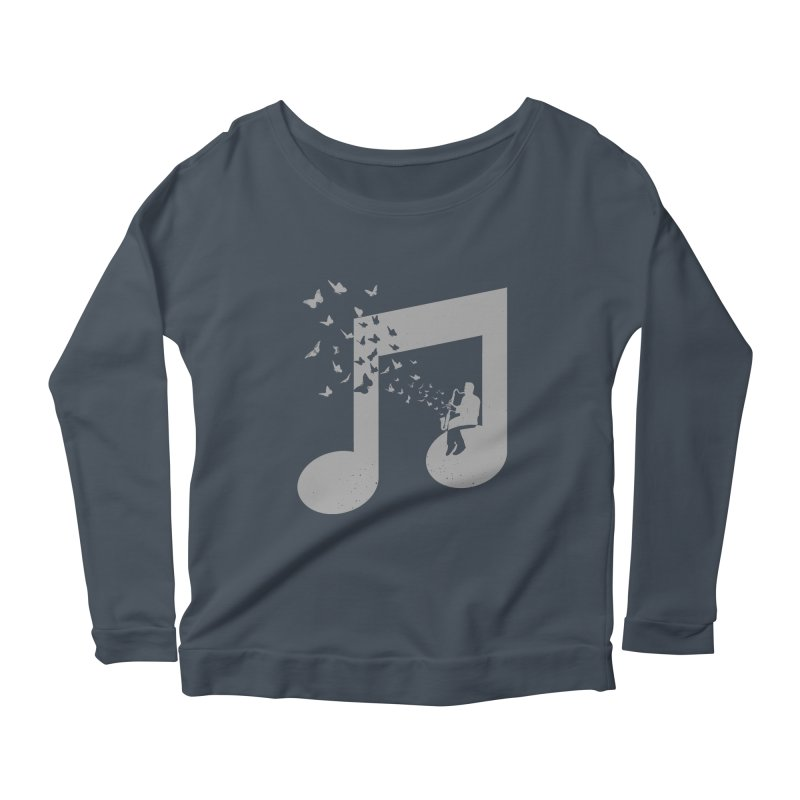 Bass Clarinet Music Women's Scoop Neck Longsleeve T-Shirt by barmalisiRTB