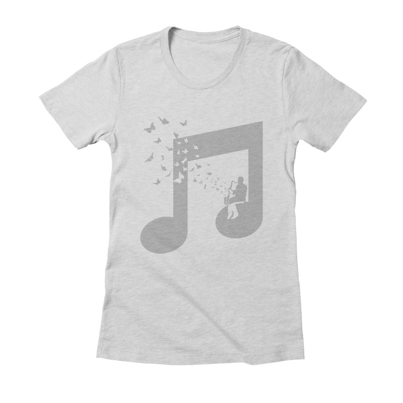 Bass Clarinet Music Women's Fitted T-Shirt by barmalisiRTB