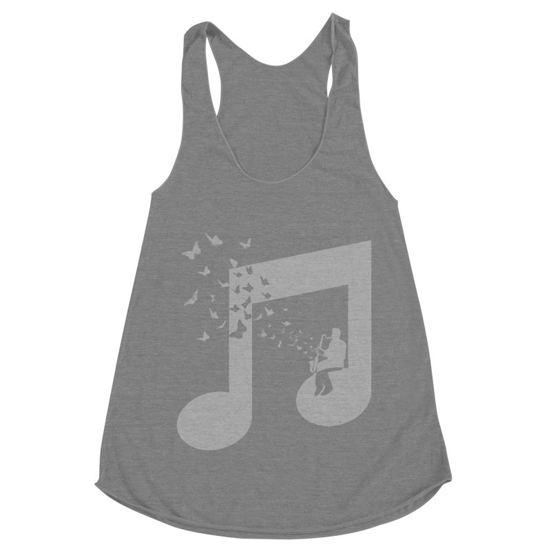 Bass Clarinet Music Women's Racerback Triblend Tank by barmalisiRTB
