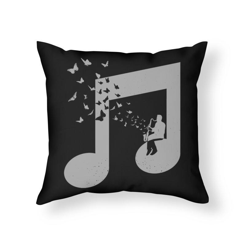 Bass Clarinet Music Home Throw Pillow by barmalisiRTB