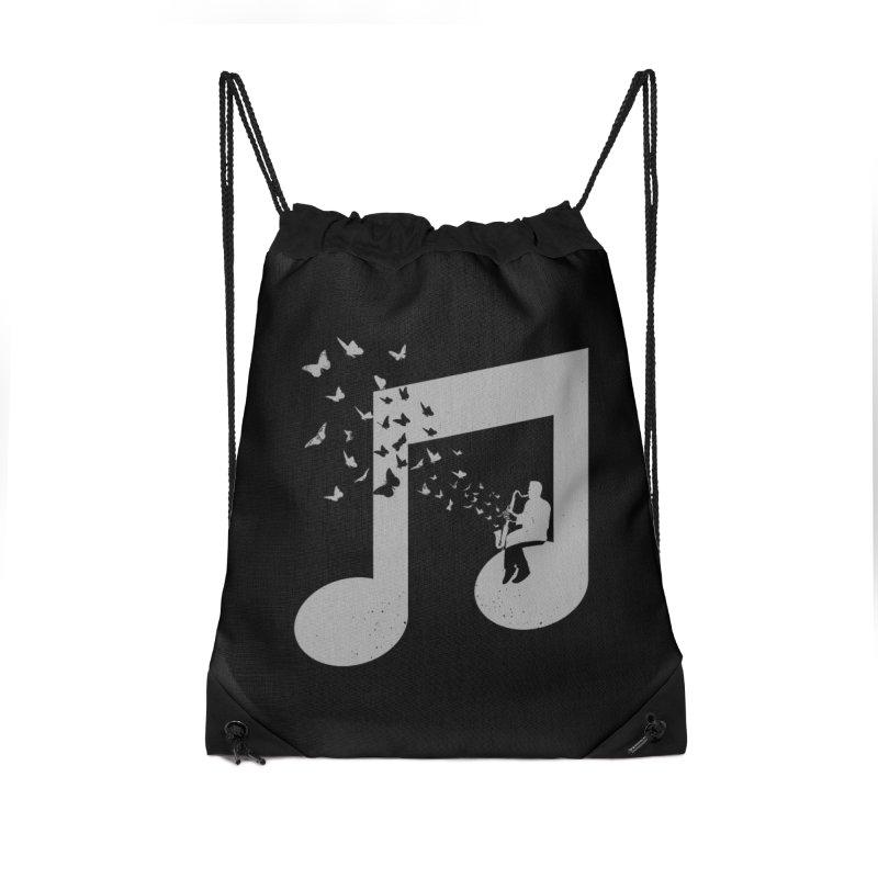 Bass Clarinet Music Accessories Drawstring Bag Bag by barmalisiRTB