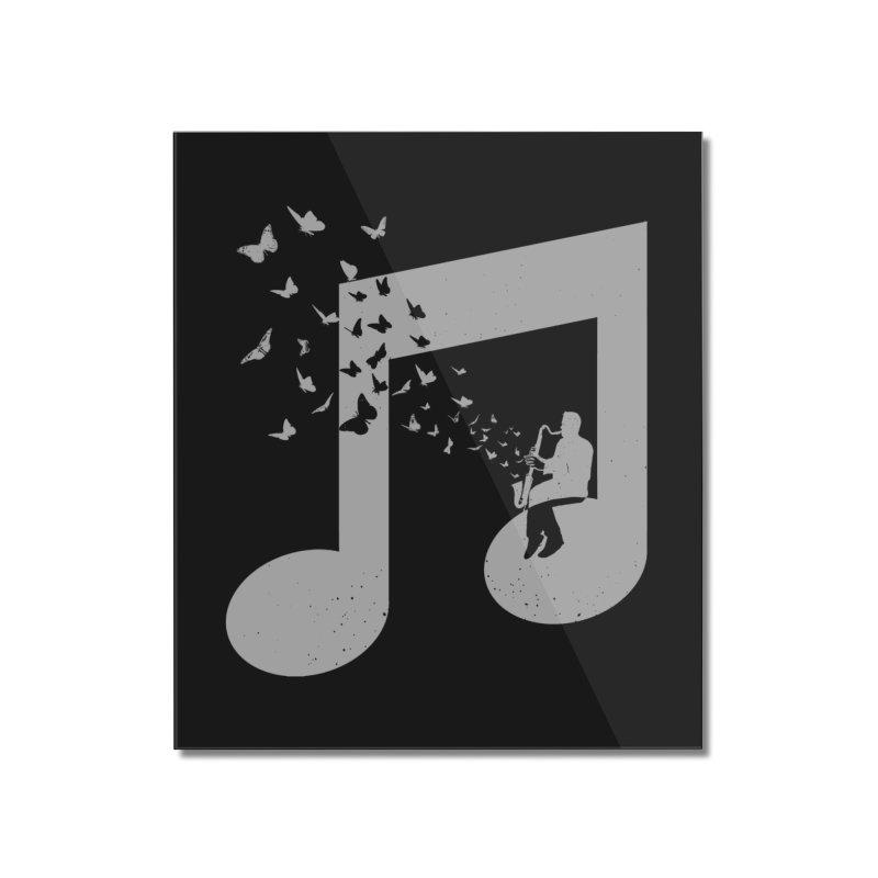 Bass Clarinet Music Home Mounted Acrylic Print by barmalisiRTB