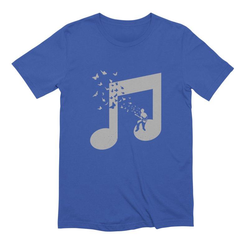 Bass Guitar Butterfly Men's Extra Soft T-Shirt by barmalisiRTB