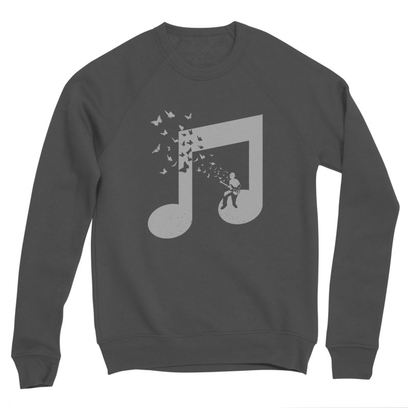 Bass Guitar Butterfly Men's Sponge Fleece Sweatshirt by barmalisiRTB