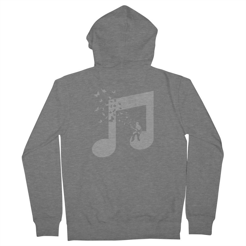 Bass Guitar Butterfly Women's French Terry Zip-Up Hoody by barmalisiRTB
